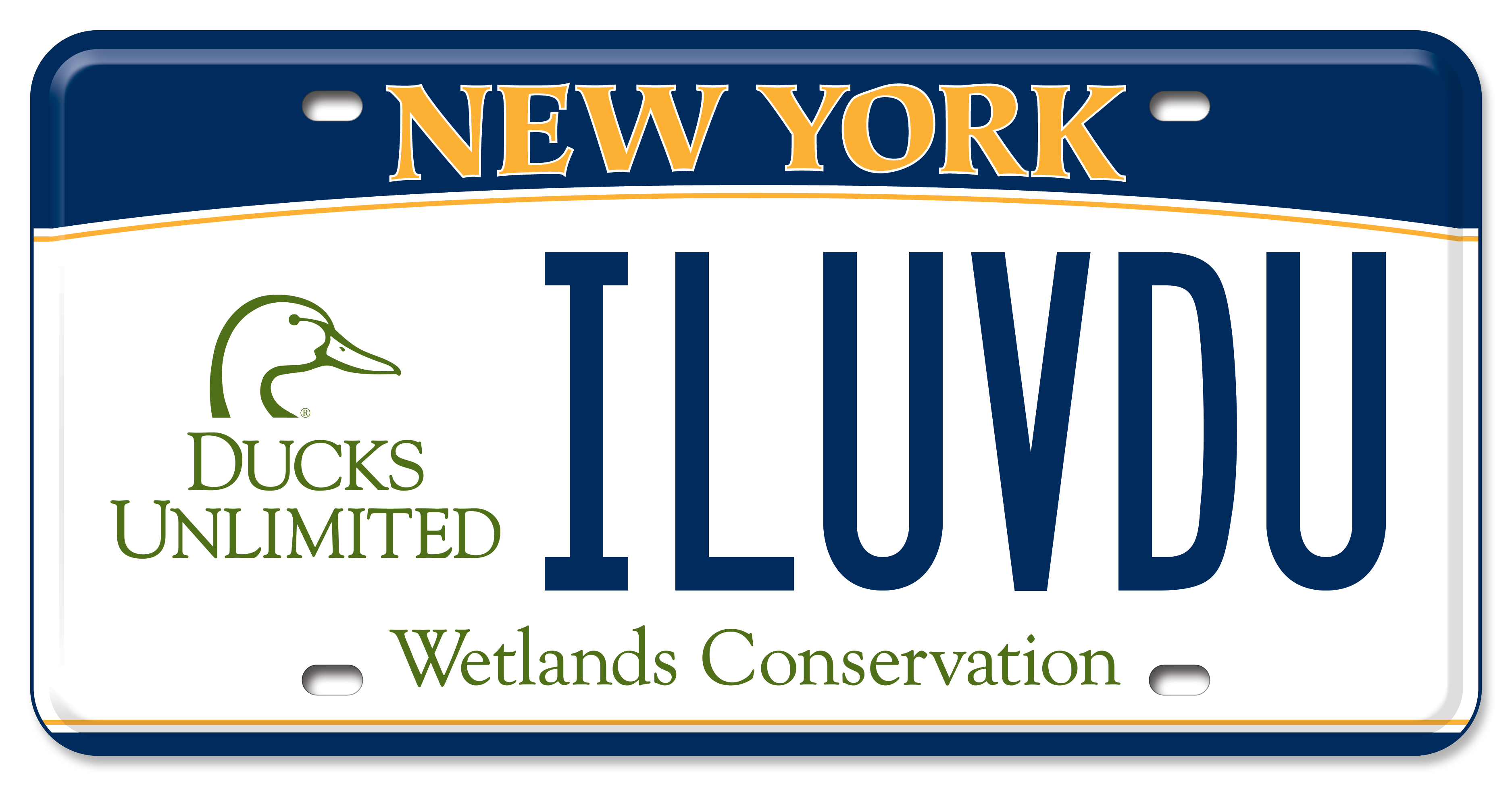 Ducks Unlimited New York License Plate