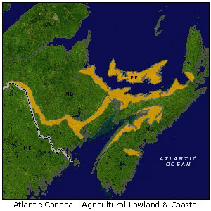 Atlantic Canada - Agricultural Lowlands map