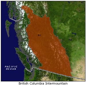 British Columbia Intermountain map
