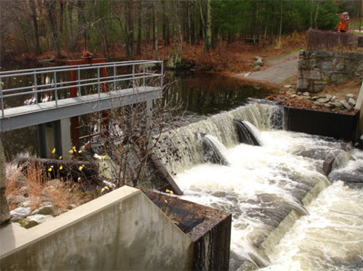 Lackey Pond dam