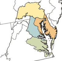Chesapeake Bay priority areas - click to learn more
