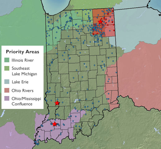 Indiana projects map