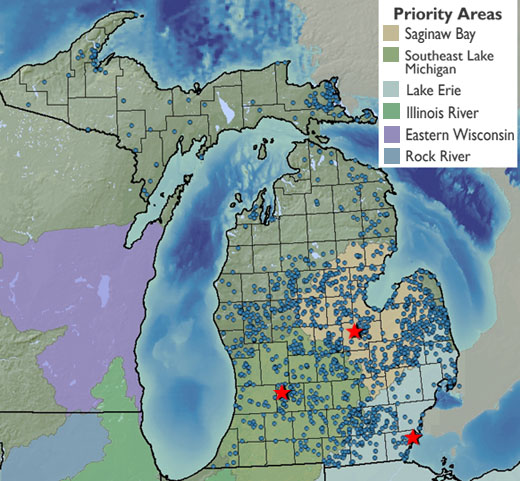 Michigan projects map
