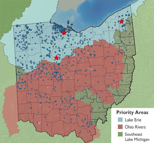 Ohio projects map