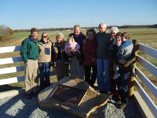Pamunkey Farms dedication