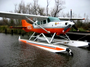 Float plane used during May pond count