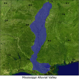Mississippi Alluvial Valley map