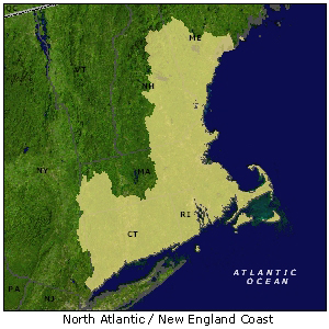North Atlantic/New England Coast map