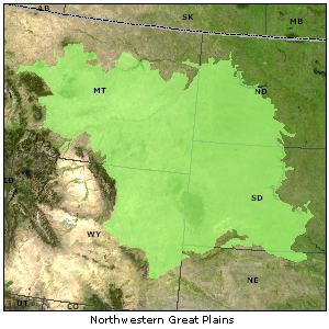 Northwestern Great Plains map