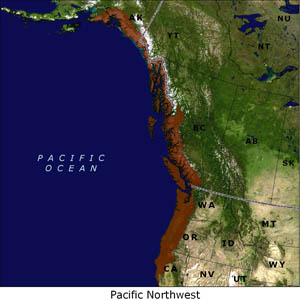 Pacific Northwest map