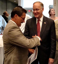 DU's Ray Whittemore and Gov. Jim Douglas (VT)