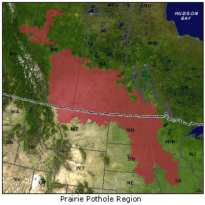 Prairie Pothole Region map