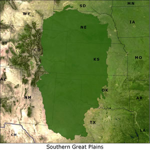 Southern Great Plains map