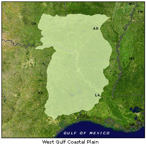 West Gulf Coastal Plain map