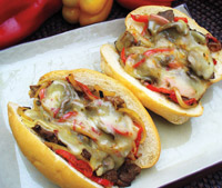 Philly-style Duck Sandwiches
