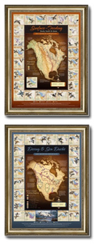 Framed Waterfowl Migration Maps - Coming to a DU event near you!