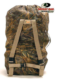 Avery Square-Bottom Decoy Bag in Shadow Grass