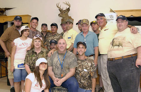 Hockomock DU committee members during the chapter's Waterfowl Hunters Party