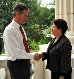 Fran Rich meets with Sen. Scott Brown