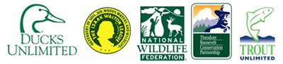 Ducks Unlimited, Izaak Walton League of America, National Wildlife Federation, Theodore Roosevelt Conservation Partnership, Trout Unlimited