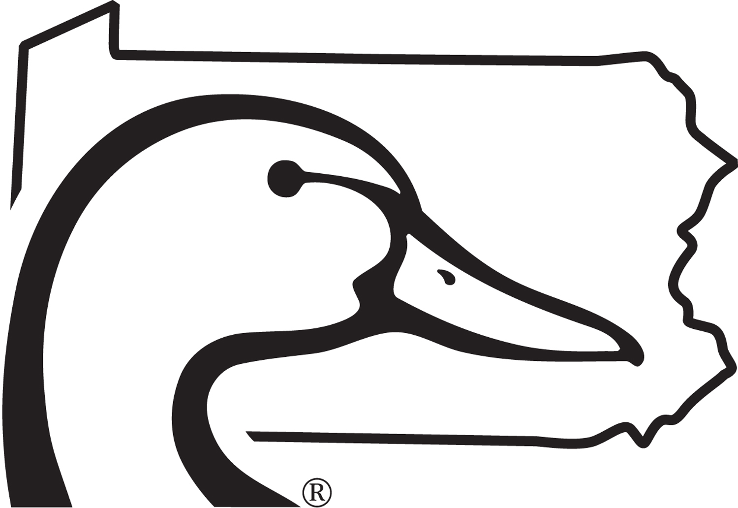 6/'/' Black. Offical Duck Decal Details about  /Ducks Unlimited