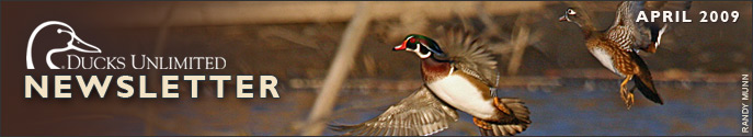 Ducks Unlimited Newsletter: April 2009 Issue
