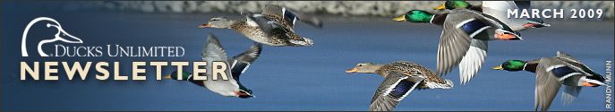 Ducks Unlimited Newsletter: March 2009 Issue