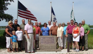 Dedication at Iowa's Diamond Lake project