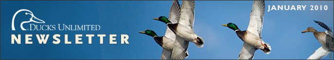 Ducks Unlimited Newsletter: January 2010 Issue
