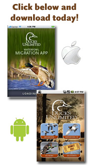 Download the official DU Waterfowl Migration Apps now!