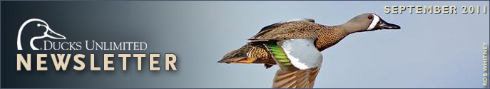 Ducks Unlimited Newsletter: September 2011 Issue