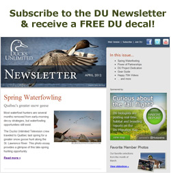 Signup for the DU Newsletter & receive a free DU decal!