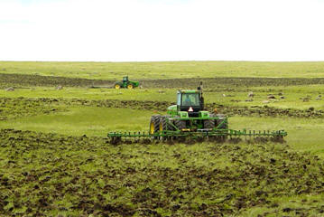 New sod-breaking, Hyde County, South Dakota, 2005.