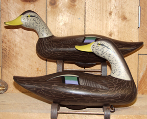 Charles Jobes black duck decoys